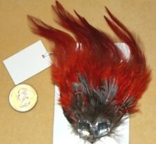 RED GOTHIC GOTH LOLITA BURLESQUE FEATHER TRIBAL Belly Dancing Hair CLIP PIN