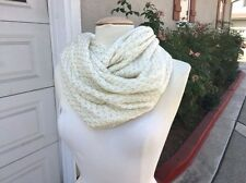 NEW Nordstrom Betsey Johnson BJ49225 Cream & Gold Infinity Loop Knit Scarf, O/S