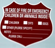 PET WARNING SIGNS FOR EMERGENCIES