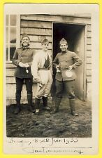 cpa Carte Photo 33 - CAMP de SOUGE Coiffeur MILITAIRES SOLDAT en 1933