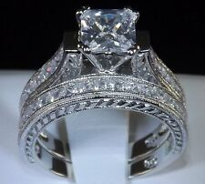 2.83 PRINCESS CUT ENGAGEMENT WEDDING RING SET WOMENS DIAMOND simulated SIZE 8