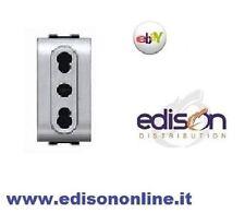 ELETTROCANALI PRESA BIVALENTE/BIPASSO 10/16A  LIFE TEC compatibile living light