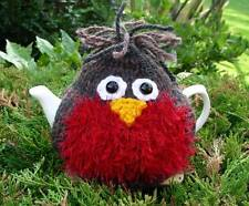 Hand Knitted Robin Tea Cosy – for small 2 cup teapot