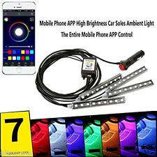 New 5050 12LED Wireless APP Music Control Car Interior RGB LED Neon Strip Light