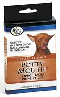 Four Paws Puppy Dog Potty Mouth Poop Eating - Coprophagia Treatment, 120 Tablets