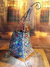 MOROCCAN LANTERN LIGHT TEA LIGHT HOLDER SILVER MOROCAN LAMP DECORATION MOROCCO