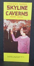 Vintage Skyline Caverns Travel Brochure, Front Royal Virginia