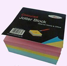 Alta Calidad Color Multi Jotter Bloque 400 Hojas Memo Bloc de notas Cubo papel engomado