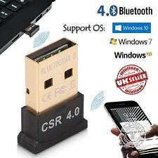 USB Bluetooth V4.0 Adapter Dongle-PC Vista Windows 10 7 8 XP Speakers Headphones