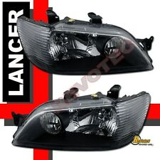 2002-2003 Mitsubishi Lancer LS ES OZ Black Headlights 1 Pair