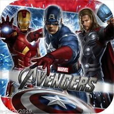 AVENGERS LARGE PAPER PLATES (8) ~ Birthday Party Supplies Dinner Luncheon Marvel