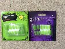 ADULT GLOW IN THE DARK  NAIL SETS x 2  - HALLOWEEN