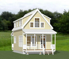 16x30 Tiny House -- 3 Bedroom  -- PDF Floor Plan -- 878 sq ft -- Model 8H