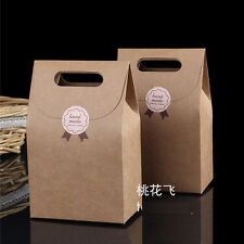 10PC Retro Kraft Paper Gift Bags Vintage shopping Party Treat Paper Favor Brown