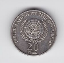 1995 AUSTRALIA 20 Cent Coin Commemorative United Nations