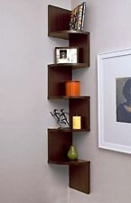 Exclusive Furniture Zig Zag Corner Wall Shelf