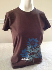American Apparel Brown Short Sleeve Jack Johnson w/Floral Pattern Girls' Large
