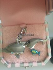 BRAND NEW! JUICY COUTURE DOLPHIN W/ FISH BRACELET CHARM IN TAGGED BOX