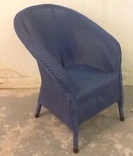 Vintage Excellent Condition Blue Lloyd Loom Chair