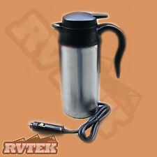 12 VOLT STAINLESS STEEL KETTLE 750ML CAMPING FISHING BOATING IN CAR 4WD 4X4