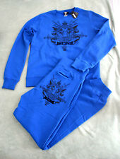 NWT Authentic Just Cavalli Men's Blue Sweater and Sweatpants Outfit Set (Medium)