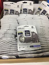LOT OF 10 PNY Performance 8GB SDHC Class 6 Memory Card - P-SDHC8G6-GE