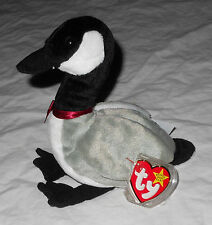 NWT 1st Ed Beanie Babies Original Loosy Canadian Goose 1998 Retired #219 NEW