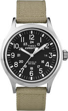Timex Mens Expedition Watch T49962 Leather strap, Indiglo Night Light & Date