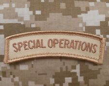 SPECIAL OPERATIONS TAB MORALE US ARMY TACTICAL OPS ISAF DESERT DCU VELCRO PATCH