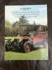 Sotheby's classic car auction catalogue althorn park 1993