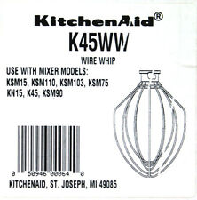 KitchenAid K45WW Electric Mixer Wire Whip Attachment Whisk