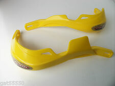 Progrip Fatbar & 22mm Hand Guards Enduro Motocross Yellow Rm Rmz Dr Drz Ts Rmx