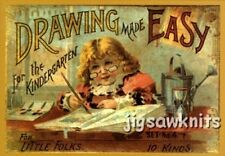 1890s DRAWING MADE EASY - ADVERTISING POSTCARD