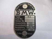 targa ì BMW R 2 R2 auto d'epoca Moto s21 corroso
