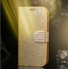 Gold Bling-Bling Glossy Gilter Wallet Flip Case Cover For Samsung Galaxy S5