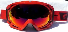 NEW $130 Carrera Mens Kimerick Reload Red winter snow ski Goggles Fire Glow Lens