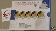 5 x 2 euro 2016 Fs BE PP Germania Allemagne Alemania Deutschland Dresda Zwinger
