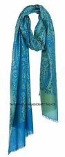 Embroidered 100% Cashmere Handloom Shawl Crewel Embroidery Pashmina Indian Scarf