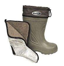 Marlin Insulated Liner Fishing Deck Waterproof Boat Boots Green 10 NEW