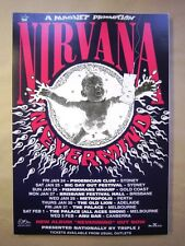 Nirvana Australian Tour Poster 1992 Art Ben Brown 2nd Edition