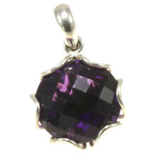 Gorgeous Amethyst Pendant 925 Sterling Silver Jewelry Great Gift Item from Bali