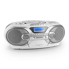 PORTABLE BOOMBOX STEREO SYSTEM CD CASSETTE AM/FM RADIO AUX USB SD MP3 AUDIO