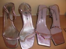 2 Pairs Lilac Moda In Pelle Strappy Shoes Size 5