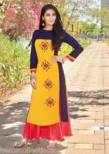 XL Attractive Designer Heavy Rayon Cotton Embroidered Kurti, Kurta,Tunic