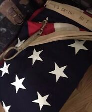"Vintage 48 Star WWII Era ""US Ensign No 7"" US Navy American Flag. 5x9.5 Ft. Rare!"