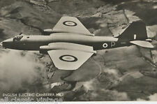 Postcard 1123 - Aircraft/Aviation Real Photo English Electric Canberra MK2