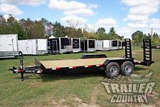 NEW 2017 7 x 20 14K Rice Flatbed Utility Equipment Hauler Car Hauler Trailer