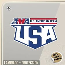 PEGATINA AMA USA TEAM MOTOCROSS OFF ROAD ENDURO VINYL STICKER DECAL ADESIVI