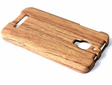 Alcatel One Touch FIERCE 7024W - Brown Wood Oak Hard Protector Skin Case Cover