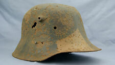 ORIGINAL WW1 GERMAN M-18 CAMO HELMET